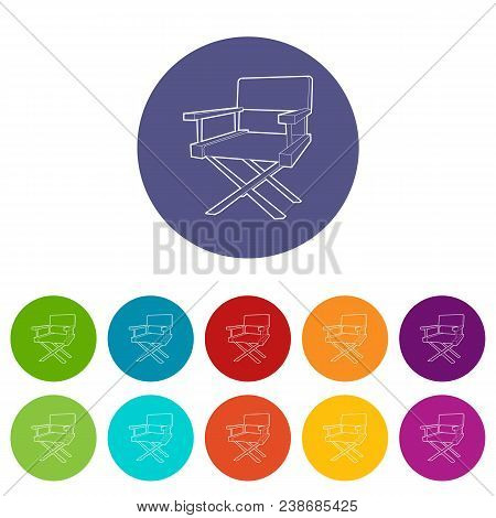 Film Director Chair Icon. Outline Illustration Of Film Director Chair Vector Icon For Web