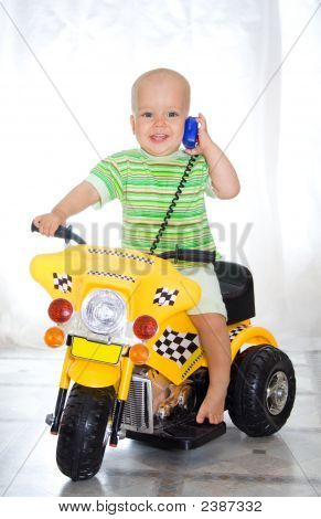 Boy On Motorcycle