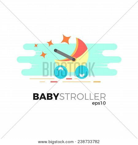 Baby stroller vector vector photo free trial bigstock baby stroller vector illustration in flat style isolated on white background logo template for maxwellsz