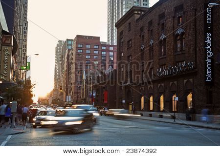 Intersection Of E. Ohio St. And N. Wabash Ave. In Chicago