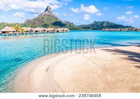 Bora Bora Island In Tahiti. French Polynesia.