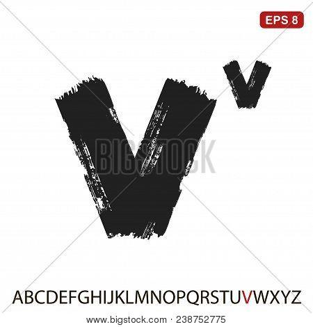 Black Capital Handwritten Vector Letter