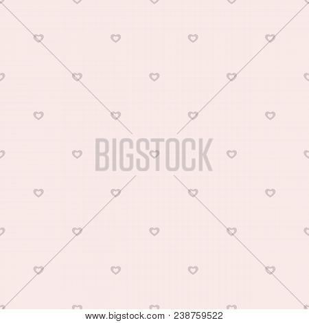Pink Hearts Vector Pattern. Valentines Day Background. Love Romantic Theme. Subtle Abstract Seamless