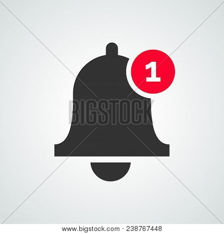 Notification Bell Vector Icon For Incoming Inbox Message Or Notification Of Smartphone Application
