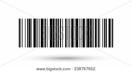 Barcode Vector Icon Or Bar Code Scan Label For Product Price Tag