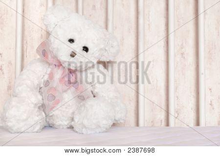 Oso de peluche blanco