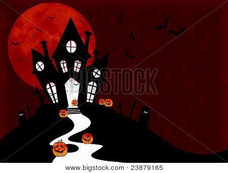 Horror house for halloween