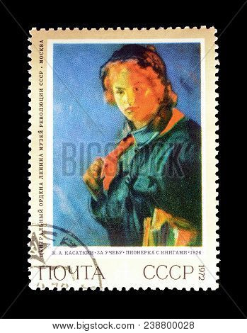Soviet Union - Circa 1972 : Cancelled Postage Stamp Printed By Soviet Union,that Shows Painting By K