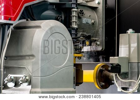 Heating Plant Gas Burners Motor Close Up