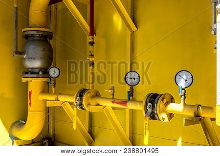 Heating Plant Manometers At The Heating Station