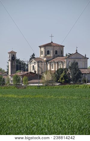 The Small Church Of A Village Located In The Middle Of The Lombard Countryside - Brescia - Italy 019