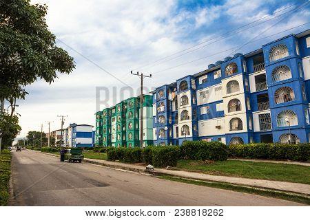 Cienfuegos, Cuba - December 7, 2017: Peripheral District Of The Cuban City Of Cienfuegos