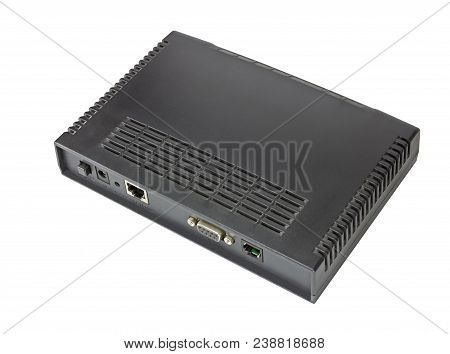 The Adsl Modem On A White Background