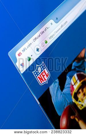 Ryazan, Russia - March 28, 2018 - Homepage Of Nfl National Football League On The Display Of Pc, Web