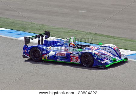 ESTORIL - SEPTEMBER 25: The Pescarolo Judd LM number 16 of the French Team Pescarolo runs to victory in the LMS race