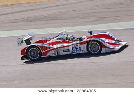 ESTORIL - SEPTEMBER 25: The MG Lola EX265 Judd of the British team RLR Msport piloted by Barry Gates in the LMS race