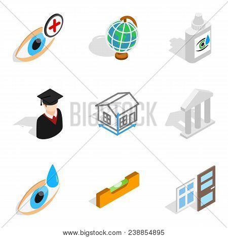 Wonderful Job Icons Set. Isometric Set Of 9 Wonderful Job Vector Icons For Web Isolated On White Bac