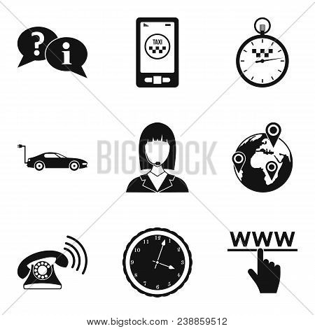 Business Hours Icons Set. Simple Set Of 9 Business Hours Vector Icons For Web Isolated On White Back