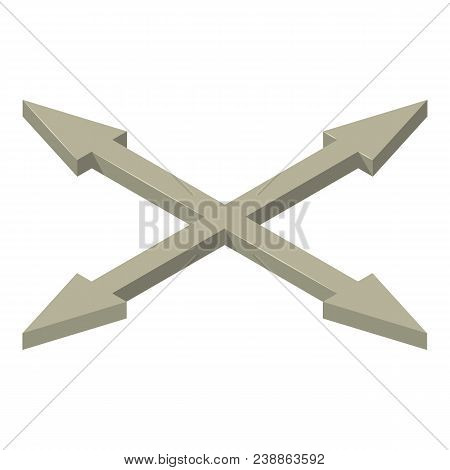 All Direction Cursor Icon. Isometric Of All Direction Cursor Vector Icon For Web Design Isolated On