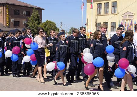Slavyansk-on-kuban, Russia - May 1, 2018: Celebrating The First Of May, The Day Of Spring And Work.