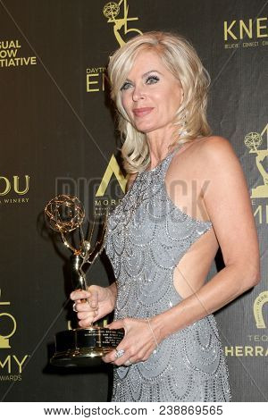 LOS ANGELES - APR 29:  Eileen Davidson at the 45th Daytime Emmy Awards at the Pasadena Civic Auditorium on April 29, 2018 in Pasadena, CA