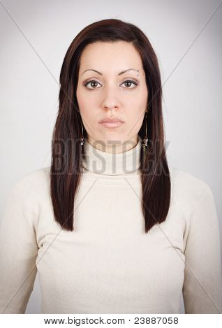 Girl With Blank Expression