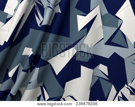Abstract Military Camouflage Background. Camo Pattern For Army Clothing. Beautiful Color Drapery Sat