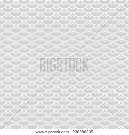 Seigaiha Or Seigainami Literally Means Wave Of The Sea. Seamless Pattern Abstract Scales Simple Natu