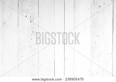 Old White And Gray Wood Texture And Background In Vintage Tone.
