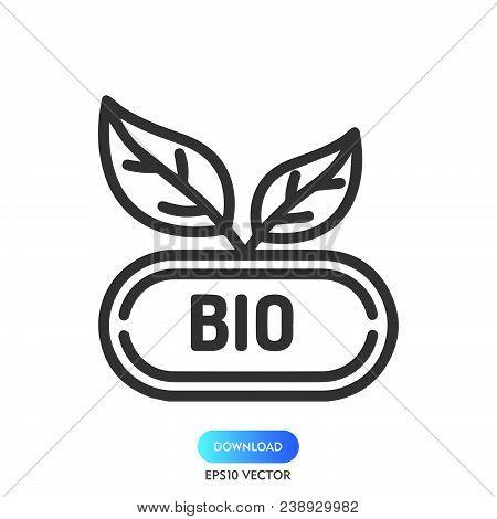 Bio Icon Isolated On White Background. Bio Icon Modern Symbol For Graphic And Web Design. Bio Icon S