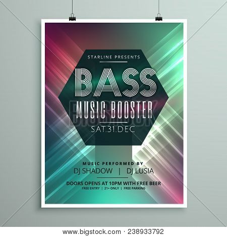 Stylish Music Party Event Flyer Brochure Template For Your Event