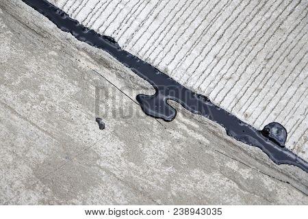 Asphalt crack filler, driveway asphalt crack repair, cold liquid, joint sealant Joint Seal, Concrete poster
