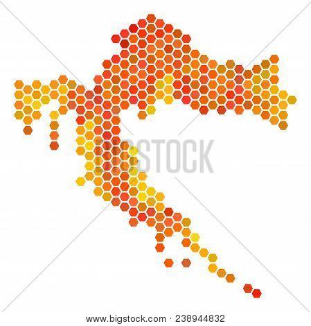 Croatia Map. Vector Vector & Photo (Free Trial)   Bigstock