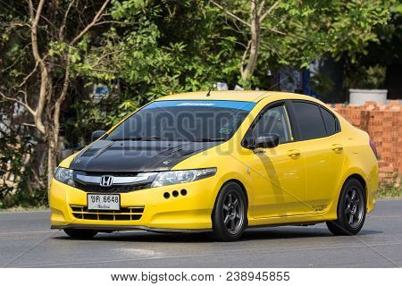 Chiang Mai, Thailand - April 8 2018: Private  Honda City Compact Car. Produced By The Japanese Manuf