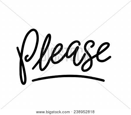 Please Text. Only One Single Word. Printable Graphic Tee. Design For Print. Vector Illustration. Bla
