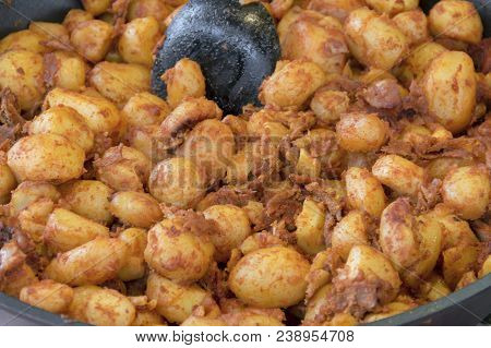 Closeup Shot Of A Pan Fried Dish Seen In The Czech Republic