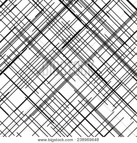 Criss Cross Pattern. Texture With Intersecting Straight Lines. Design Element To Create Abstract Gru
