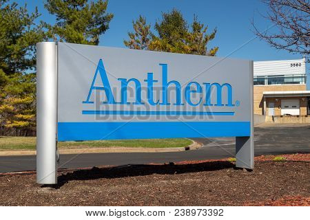 Eagan, Mn/usa - April 28, 2018: Anthem Healthcare Facility And Sign. Anthem, Inc. Is An American Hea