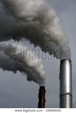 Chimneys smoking