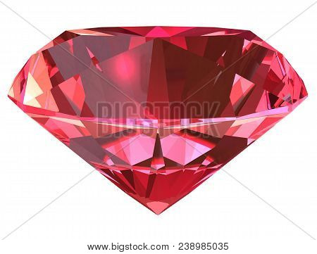 Ruby Side View Render Isolated On White Background (3d Illustration)