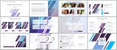 Set of vector templates for website design, minimal presentations, portfolio. UI, UX, GUI. Design of headers, dashboard, contact forms, features page, pricing, testimonials, e-commerce page, blog etc poster