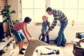 Kids helping house chores poster
