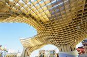 Metropol Parasol in Plaza de la Encarnacion in Sevilla, Andalusia, Spain poster