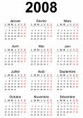 2008 French generic calendar A3 easy cropping for the busy designers who want to create their own designs agendas datebooks. poster