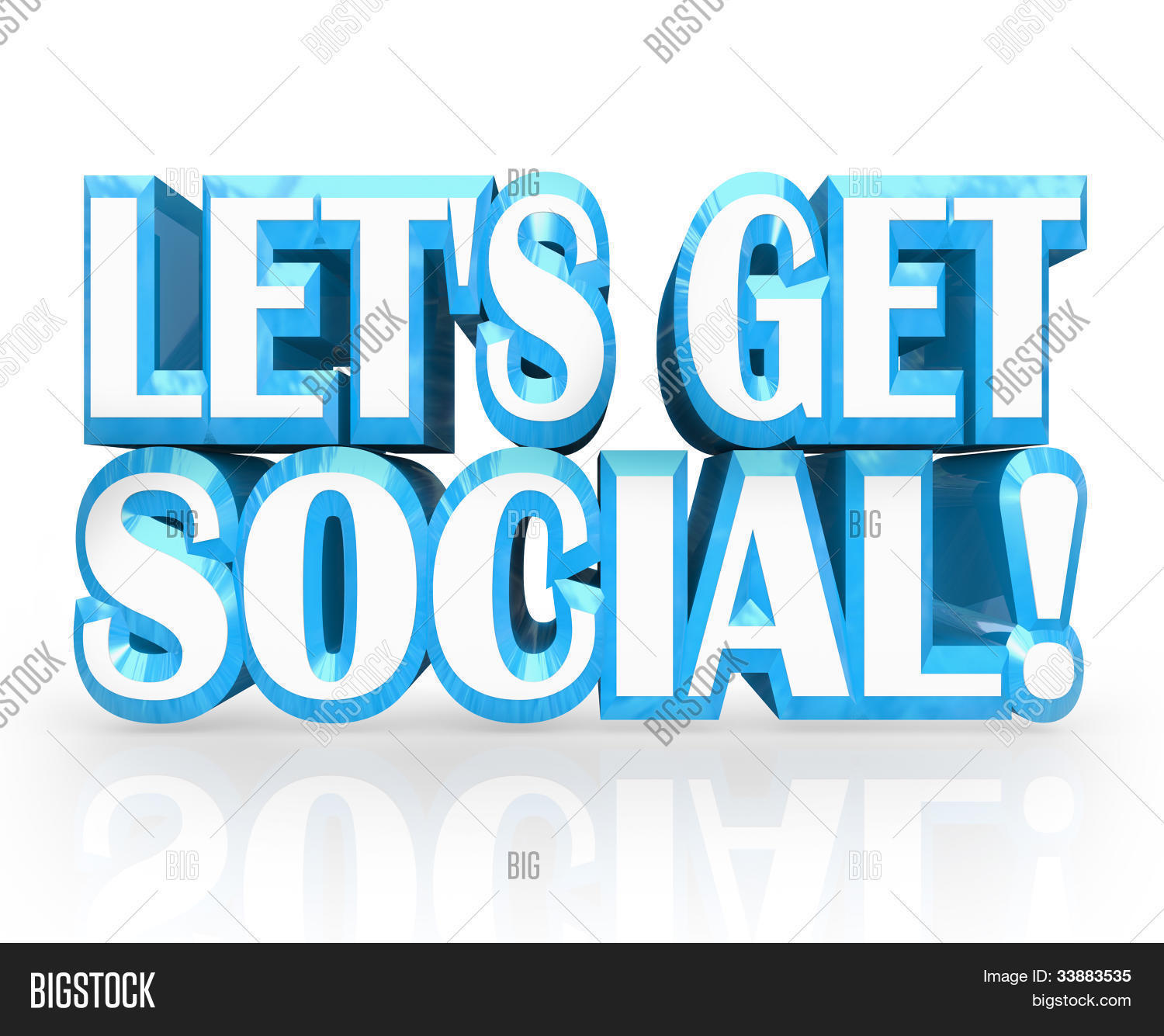 Art Social Calendar : Words let s get social image photo free trial bigstock