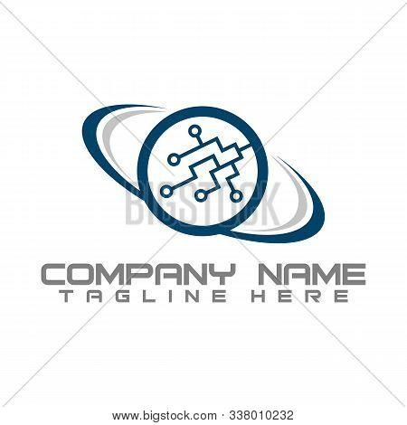 Technology Orbit Web Rings Logo Design. Vector Circle Ring Logo Design. Abstract Circle Logo Templat
