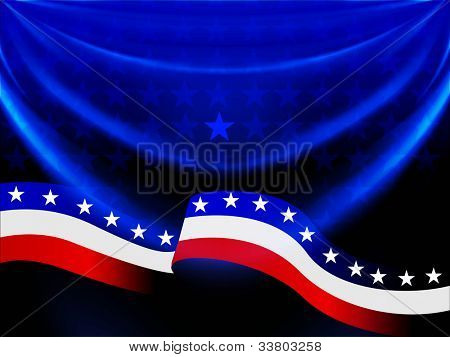 Abstract American Flag background with waving pattern for 4th July American Independence Day and other occasions. EPS 10. poster