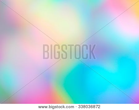 Holographic Foil Abstract Background For Your Ad, Poster, Banner. Abstract Blurred Cover With Soft P