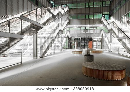 VIENA, AUSTRIA, 15 SEPTEMBER, 2019: Modern architecture in Viena, most livable city in the world and capital of Austria, Europe