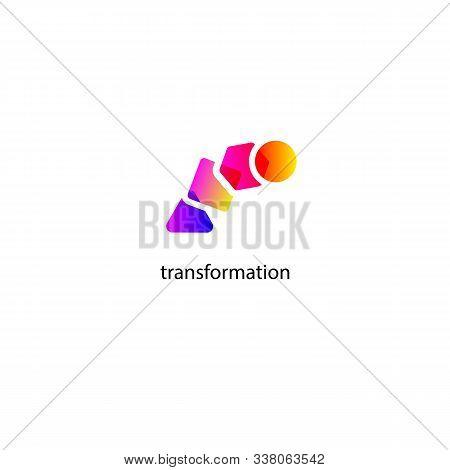Logo Transform, Icon Change, Growth, Symbol Training, Evolution, Business Development, Logo Educatio